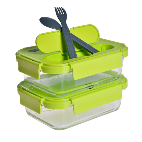 2 Piece Glass Food Lunch Containers
