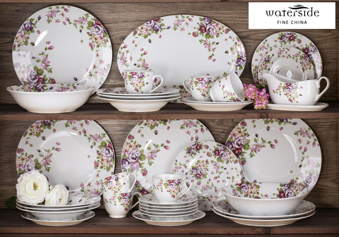 35 Piece Summer Rose Dinner Set