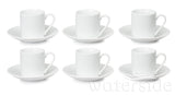 Set of 6 Espresso Cups & Saucers