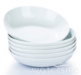 6pc White Pasta Bowls