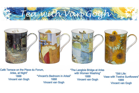 4 Piece Vincent Van Gogh Design Mugs