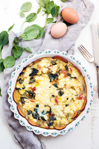 The Weekly Breakfast: Jalapeno, Pepper Jack, & Turkey Bacon Quiche w/ a Shredded Sweet Potato Crust (Gluten-Free) - Click Here to Order!