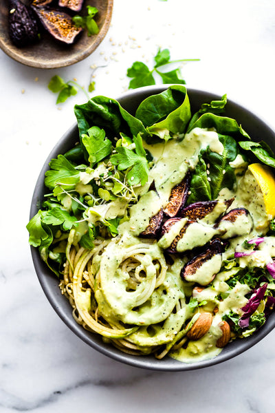 The Vegetarian Meal: Green Goddess Fig Nourish Bowl (Vegetarian, Paleo, GF, SugarNix, Keto)