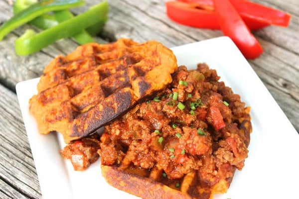 Wednesday Lunch - 1/20: Sloppy Joes with Sweet Potato Waffles (Paleo, GF, SugarNix)