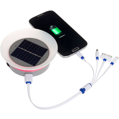 GreenLighting Solar Phone Charger - 2000mAh Window Cling Power Bank (Grey)