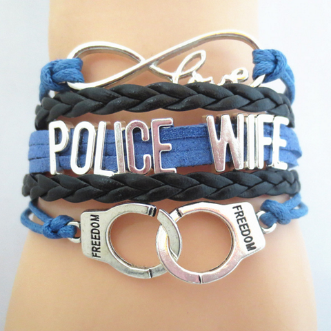 Law Enforcement - Police Wife Bracelet with Handcuffs