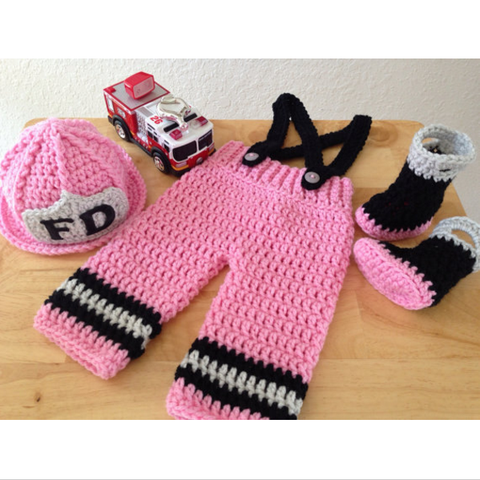 Firefighters - Baby Firefighter Outfit (Pink)