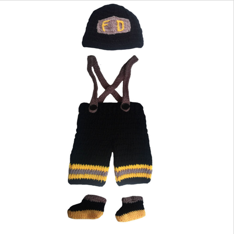 Firefighters - Baby Firefighter Outfit (Black and Yellow - full)
