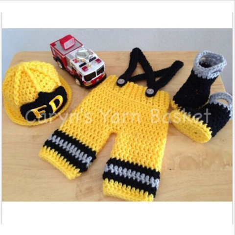 Firefighters - Baby Firefighter Outfit (Yellow - full)