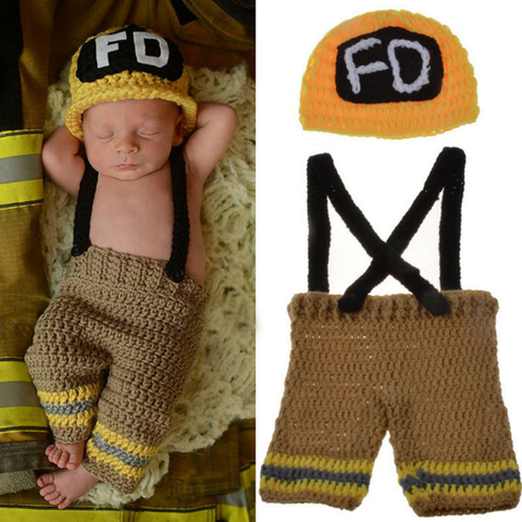 Firefighters - Baby Firefighter Outfit (Brown and Yellow)