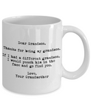 Dear Grandson Punched in the Face Grandmother Mug