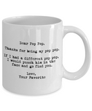 Dear Pop Pop Punched in the Face Mug