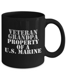 Military - Veteran Grandpa - Property of a U.S. Marine - Mug