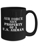 Military - Air Force Son - Property of a U.S. Airman - Mug