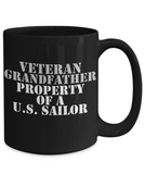 Military - Veteran Grandfather - Property of a U.S. Sailor - Mug