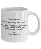 Dear Grandpa Punched in the Face Mug