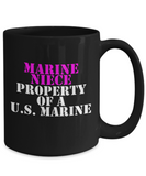 Military - Marine Niece - Property of a U.S. Marine - Mug
