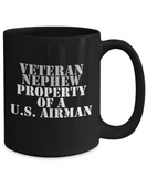 Military - Veteran Nephew - Property of a U.S. Airman - Mug