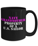 Military - Navy Grandmother - Property of a U.S. Sailor - Mug