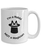Rabbi - Not A Magician - Mug