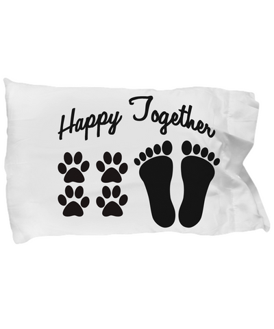 Dogs - Happy Together - Pillow Case