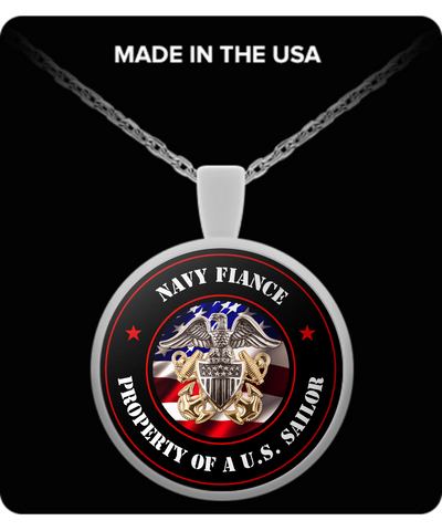 Military - Navy Fiance - Property of a U.S. Sailor - Necklace
