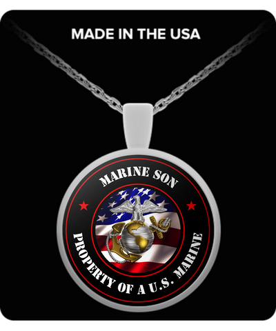 Military - Marine Son - Property of a U.S. Marine - Necklace