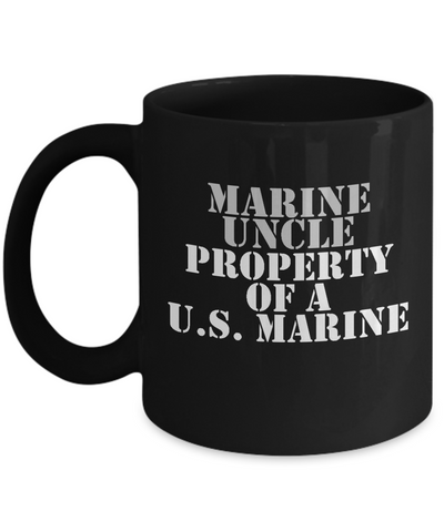 Military - Marine Uncle - Property of a U.S. Marine - Mug