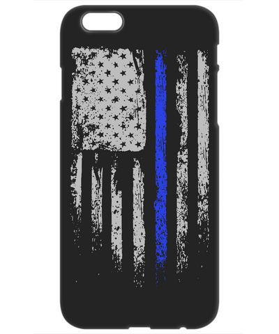 Law Enforcement Patriotic Thin Blue Line Mobile Cover
