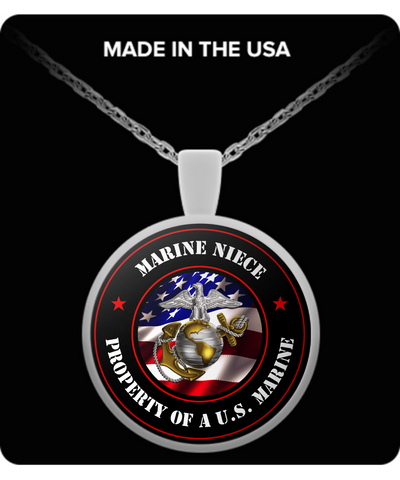 Military - Marine Niece - Property of a U.S. Marine - Necklace