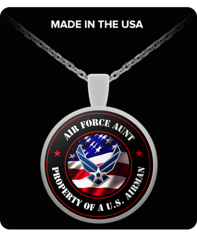 Military - Air Force Aunt - Property of a U.S. Airman - Necklace