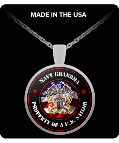 Military - Navy Grandma - Property of a U.S. Sailor - Necklace