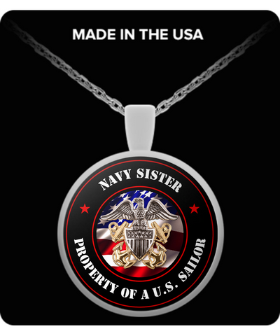 Military - Navy Sister - Property of a U.S. Sailor - Necklace