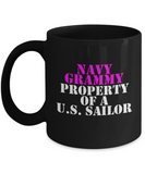 Military - Navy Grammy - Property of a U.S. Sailor - Mug