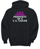 Military - Navy Sister - Property of a U.S. Sailor