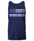 Law Enforcement - Thin Blue Lifeline Flag - Shirt
