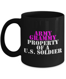 Military - Army Grammy - Property of a U.S. Soldier - Mug