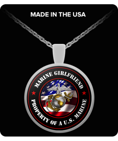 Military - Marine Girlfriend - Property of a U.S. Marine - Necklace