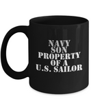 Military - Navy Son - Property of a U.S. Sailor - Mug