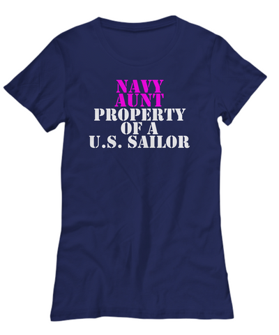 Military - Navy Aunt - Property of a U.S. Sailor