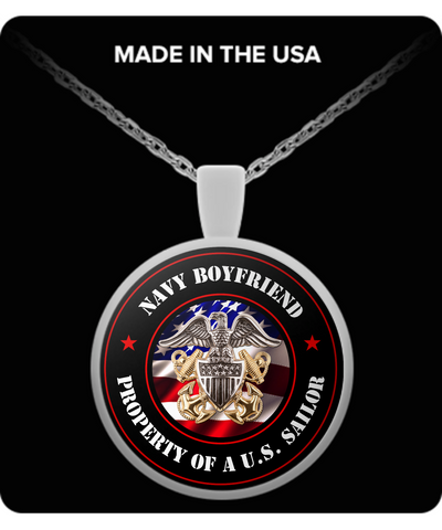Military - Navy Boyfriend - Property of a U.S. Sailor - Necklace