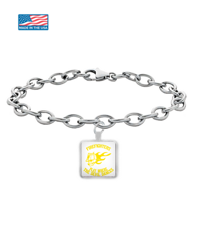 Firefighters - Play Where The Devil Dances Bracelet (Yellow)