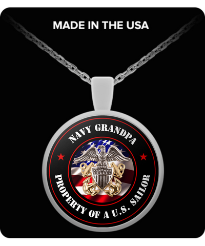 Military - Navy Grandpa - Property of a U.S. Sailor - Necklace