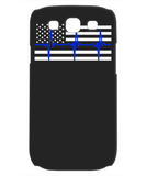 Law Enforcement - Thin Blue Lifeline Flag - Mobile Phone Case