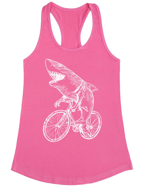 SEEMBO Shark Cycling Bicycle Women's Poly-Cotton Tank Top