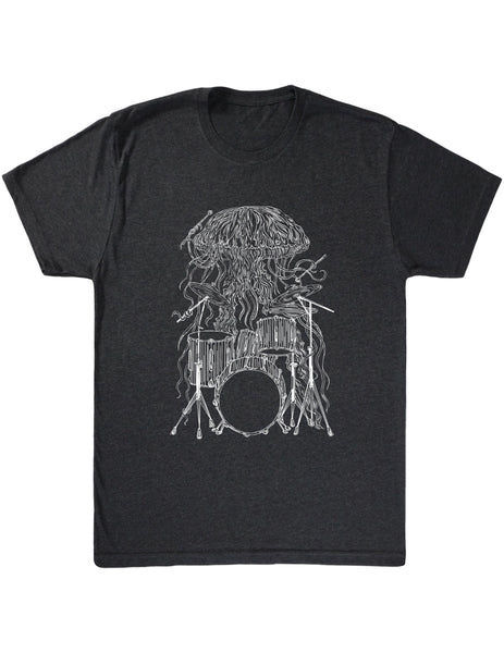 SEEMBO Jellyfish Playing Drums Men's Tri-Blend T-Shirt