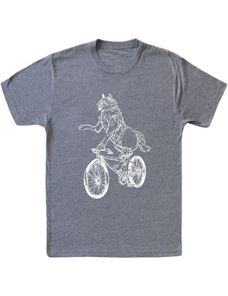 SEEMBO Wolf Cycling Bicycle Men's Tri-Blend T-Shirt