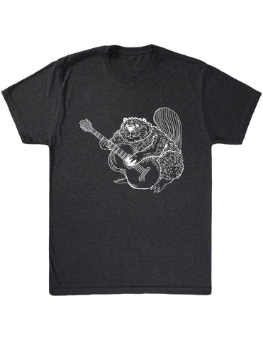 SEEMBO Beaver Playing Guitar Men's Tri-Blend T-Shirt