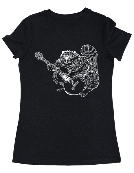 SEEMBO Beaver Playing Guitar Women's Tri-Blend T-Shirt