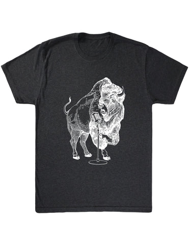 SEEMBO Bison Trying To Sing Men's Tri-Blend T-Shirt